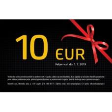 Darilna kartica v vrednosti 10 EUR