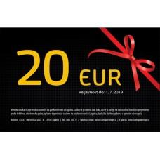 Darilna kartica v vrednosti 20 EUR