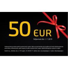 Darilna kartica v vrednosti 50 EUR